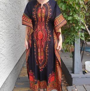 Unique mumu/kimono dress